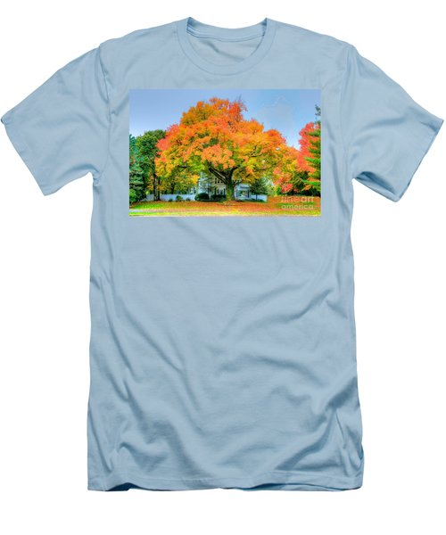 Men's T-Shirt (Slim Fit) featuring the photograph The Family Tree In Autumn by Robert Pearson