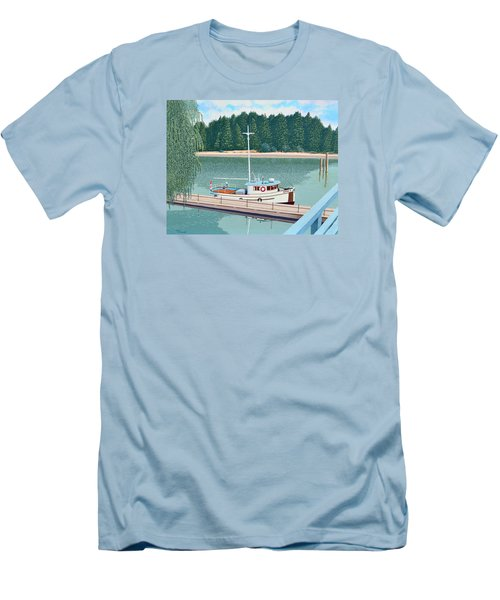 The Converted Fishing Trawler Gulvik Men's T-Shirt (Slim Fit) by Gary Giacomelli