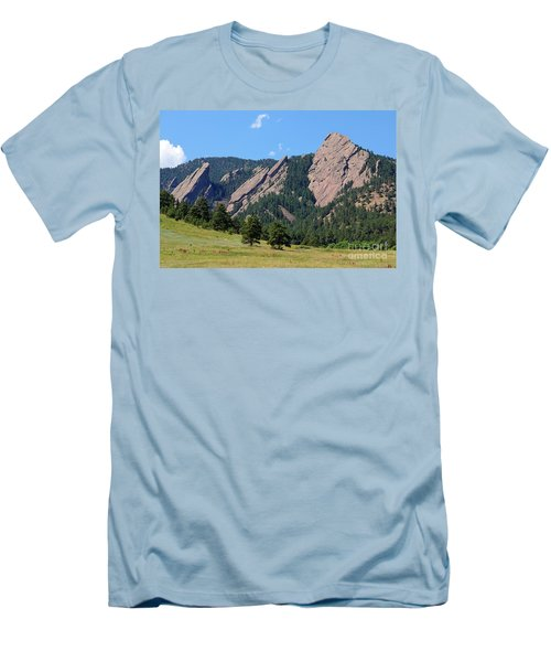 The Flatirons Men's T-Shirt (Slim Fit) by Bob Hislop