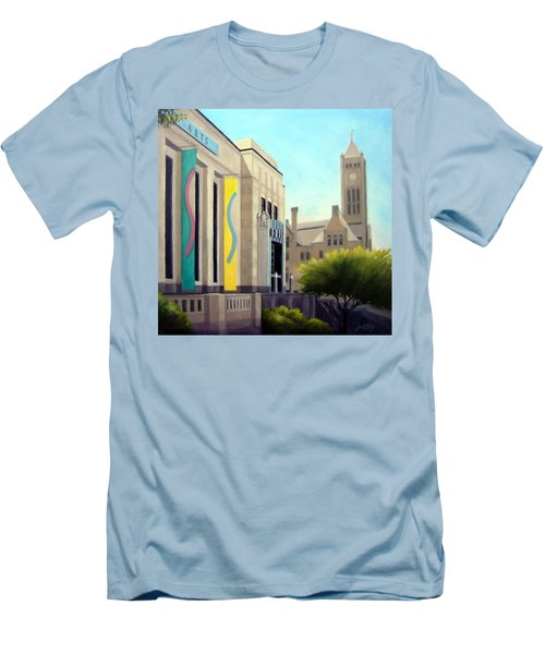 Men's T-Shirt (Slim Fit) featuring the painting The Frist Center by Janet King