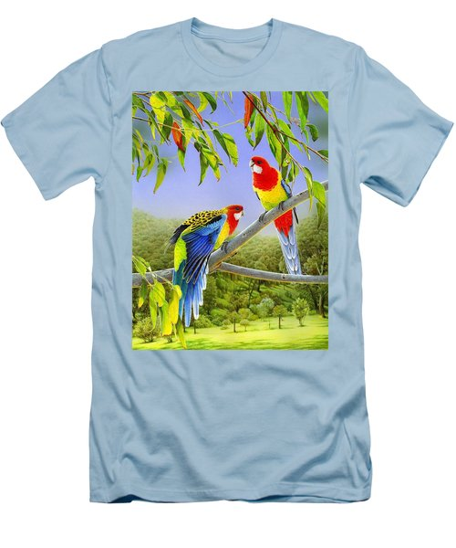 The Happy Couple - Eastern Rosellas  Men's T-Shirt (Athletic Fit)