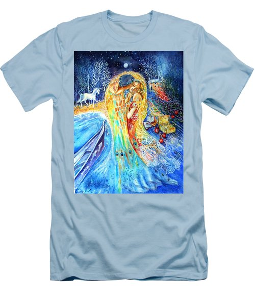 The Homecoming Kiss After Gustav Klimt Men's T-Shirt (Athletic Fit)