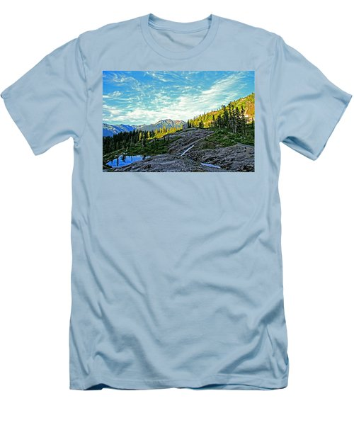 Men's T-Shirt (Slim Fit) featuring the photograph The Hut. by Eti Reid