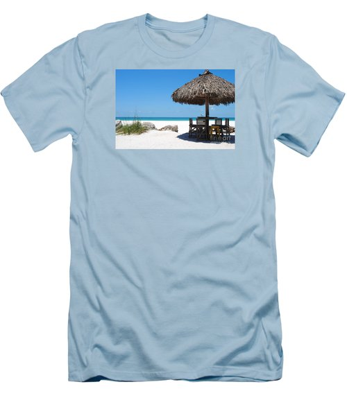Men's T-Shirt (Slim Fit) featuring the photograph The Kokonut Hut  by Margie Amberge