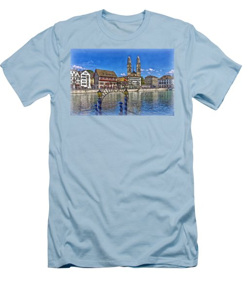 The Limmat City Men's T-Shirt (Slim Fit) by Hanny Heim