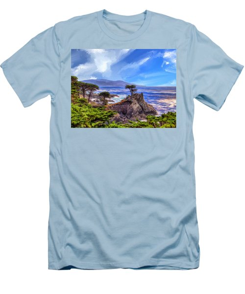 The Lone Cypress Men's T-Shirt (Slim Fit) by Dominic Piperata