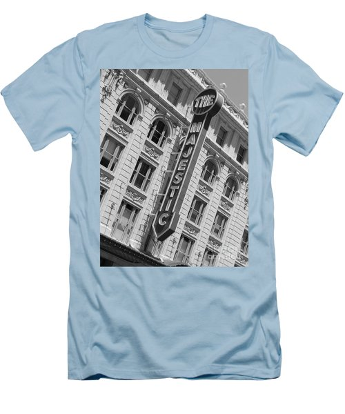Men's T-Shirt (Slim Fit) featuring the photograph The Majestic Theater Dallas #3 by Robert ONeil