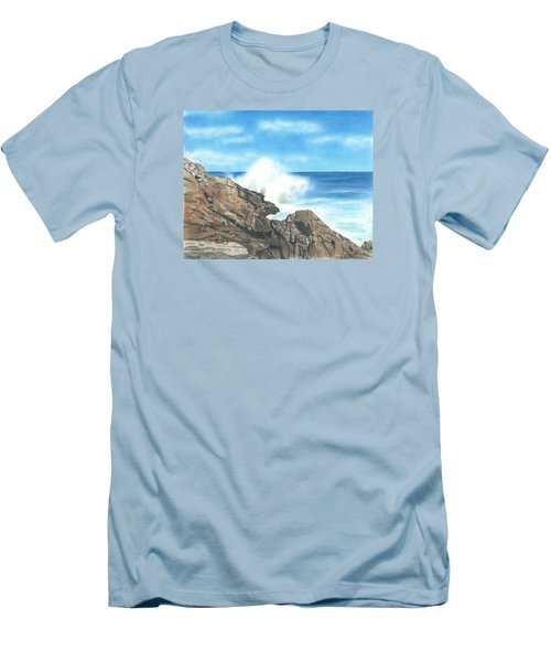 Men's T-Shirt (Slim Fit) featuring the drawing The Marginal Way by Troy Levesque
