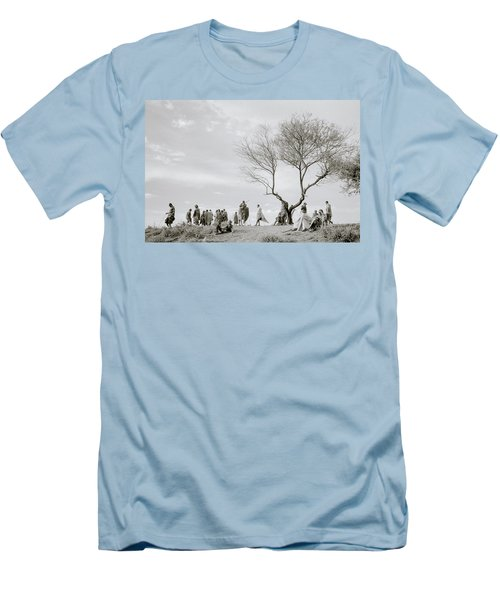 The Meeting Men's T-Shirt (Slim Fit) by Shaun Higson