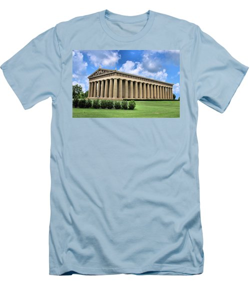 The Parthenon Men's T-Shirt (Slim Fit) by Kristin Elmquist