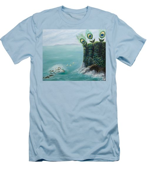 The Peacock Cliffs Men's T-Shirt (Athletic Fit)