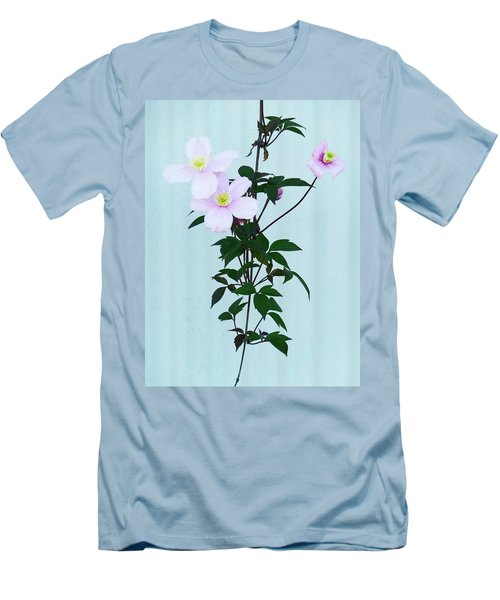 The Pink Clematis Men's T-Shirt (Athletic Fit)