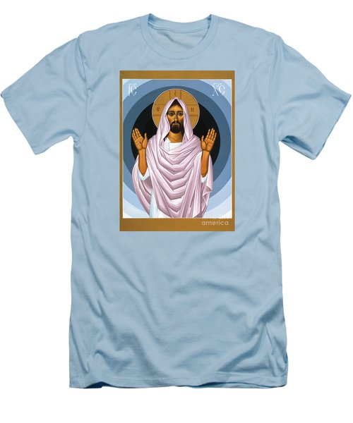 The Risen Christ 014 Men's T-Shirt (Slim Fit) by William Hart McNichols