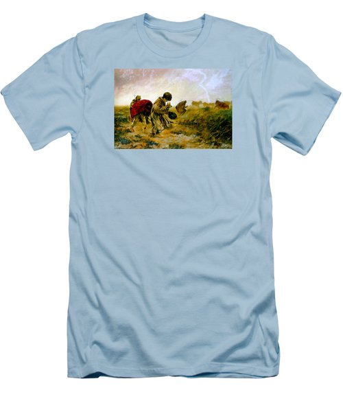 Men's T-Shirt (Slim Fit) featuring the painting The Storm by Henryk Gorecki
