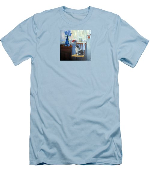 The Studio Cat Men's T-Shirt (Slim Fit) by Loretta Luglio