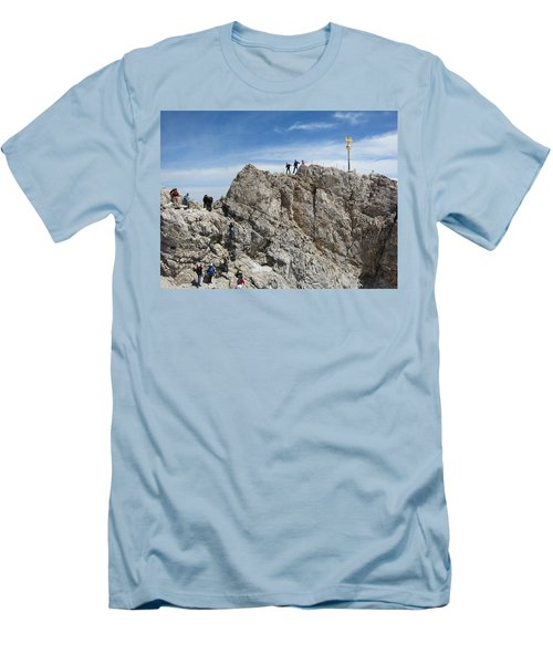 Men's T-Shirt (Slim Fit) featuring the photograph The  Summit - 1 by Pema Hou