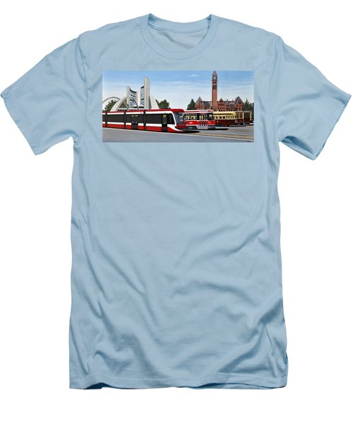 The Toronto Streetcar 100 Years Men's T-Shirt (Slim Fit) by Kenneth M  Kirsch