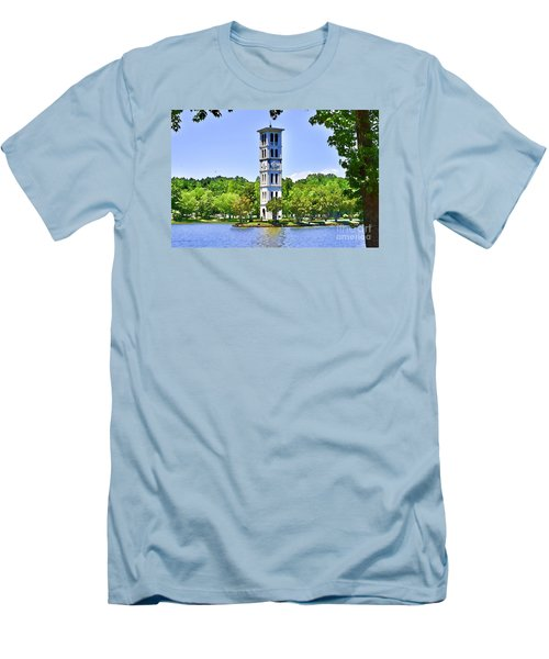 Men's T-Shirt (Slim Fit) featuring the photograph The Tower by Larry Bishop