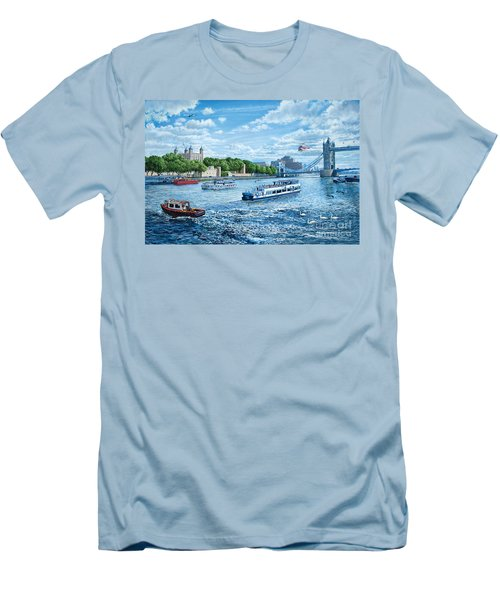 The Tower Of London Men's T-Shirt (Slim Fit) by Steve Crisp