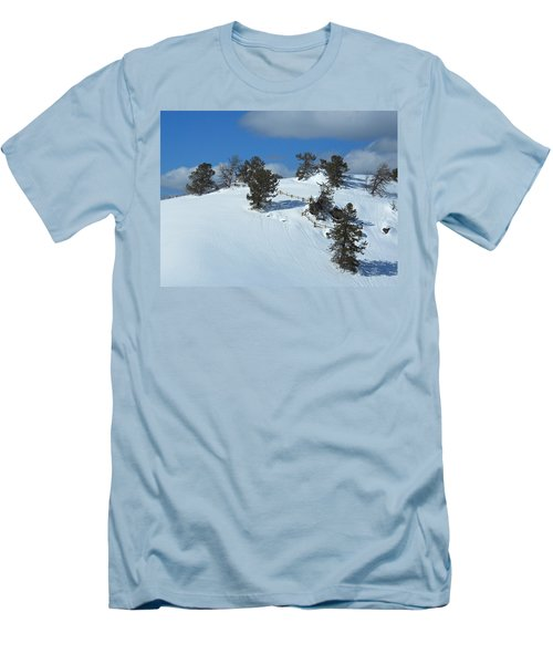Men's T-Shirt (Slim Fit) featuring the photograph The Trees Take A Snow Day by Michele Myers