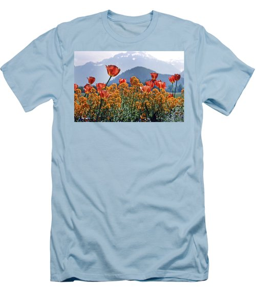 The Tulips In Bloom Men's T-Shirt (Athletic Fit)