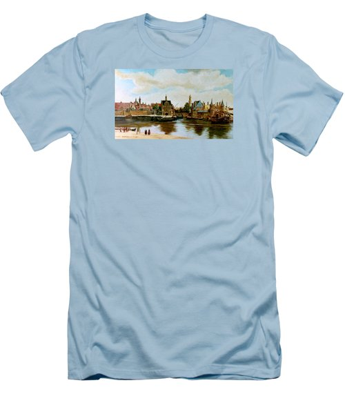 The View Of Delft Men's T-Shirt (Slim Fit) by Henryk Gorecki