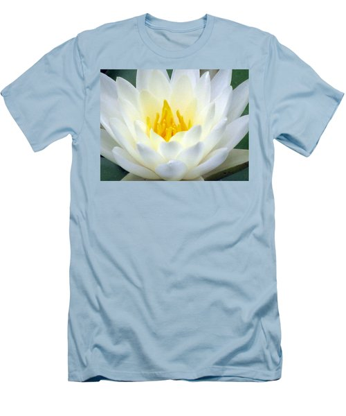 Men's T-Shirt (Slim Fit) featuring the photograph The Water Lilies Collection - 05 by Pamela Critchlow
