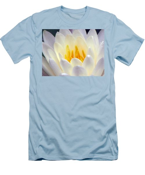Men's T-Shirt (Slim Fit) featuring the photograph The Water Lilies Collection - 11 by Pamela Critchlow