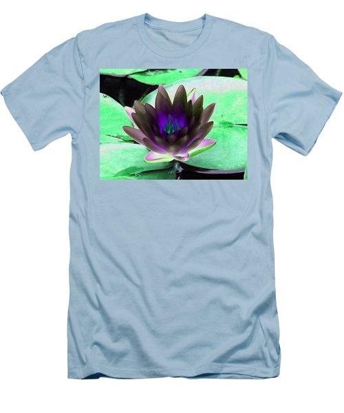 Men's T-Shirt (Slim Fit) featuring the photograph The Water Lilies Collection - Photopower 1116 by Pamela Critchlow