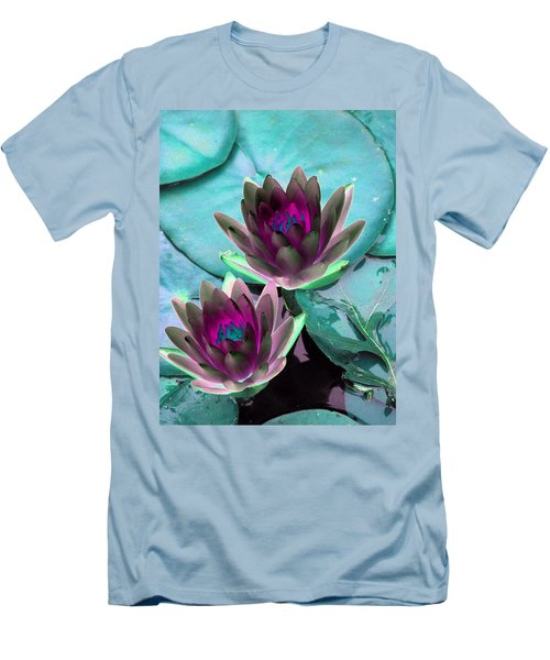 Men's T-Shirt (Slim Fit) featuring the photograph The Water Lilies Collection - Photopower 1124 by Pamela Critchlow