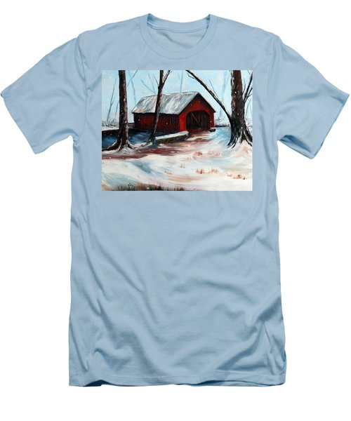 Men's T-Shirt (Slim Fit) featuring the painting The Way Home by Meaghan Troup