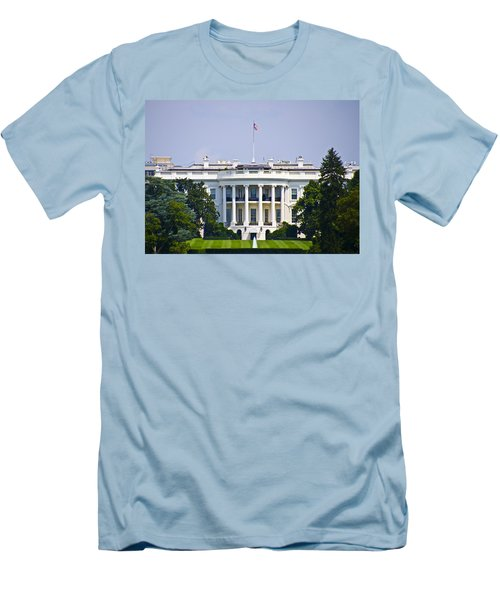 The Whitehouse - Washington Dc Men's T-Shirt (Slim Fit) by Bill Cannon