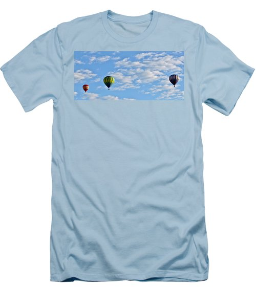 Three Beautiful Balloons In Cortez Men's T-Shirt (Athletic Fit)
