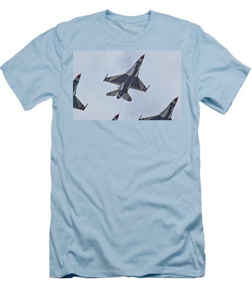 Go Go Thunderbirds Men's T-Shirt (Slim Fit) by Richard Engelbrecht