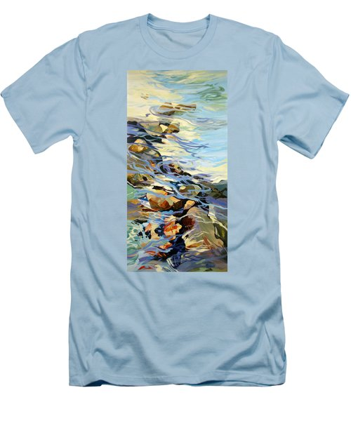 Men's T-Shirt (Slim Fit) featuring the painting Tidepool 3 by Rae Andrews