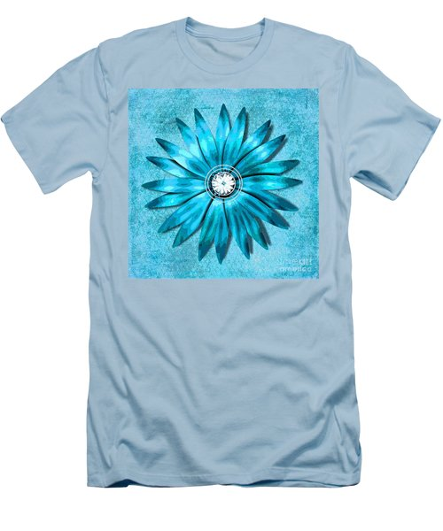 Tiffany Blue And Diamonds Too Men's T-Shirt (Slim Fit) by Saundra Myles