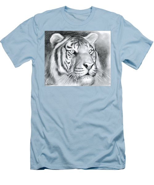 Tiger Men's T-Shirt (Slim Fit) by Greg Joens