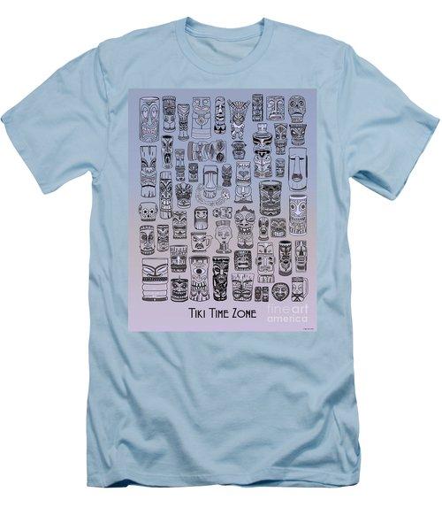 Men's T-Shirt (Slim Fit) featuring the digital art Tiki Cool Zone by Megan Dirsa-DuBois