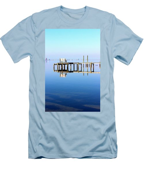 Time To Reflect Men's T-Shirt (Slim Fit) by Faith Williams