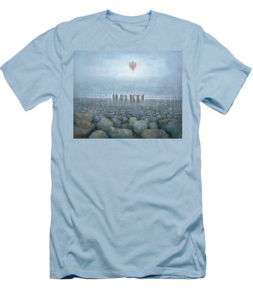 To The Mountains Of The Moon Men's T-Shirt (Slim Fit) by Steve Mitchell