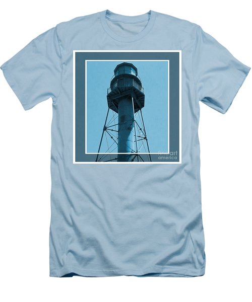 Men's T-Shirt (Slim Fit) featuring the photograph Top Of Sanibel Island Lighthouse by Janette Boyd