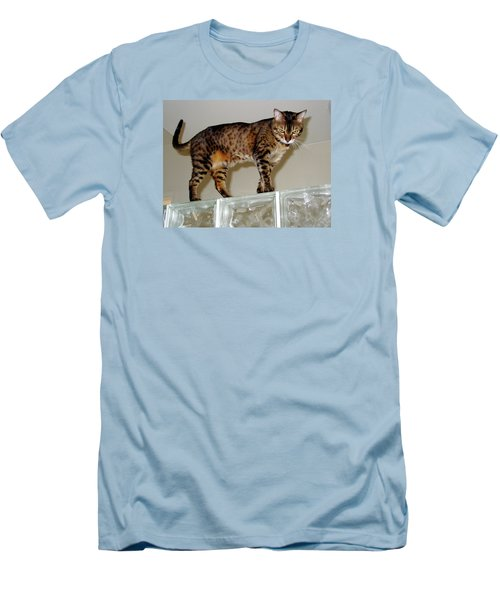Men's T-Shirt (Slim Fit) featuring the photograph Tora On Glass II by Phyllis Kaltenbach