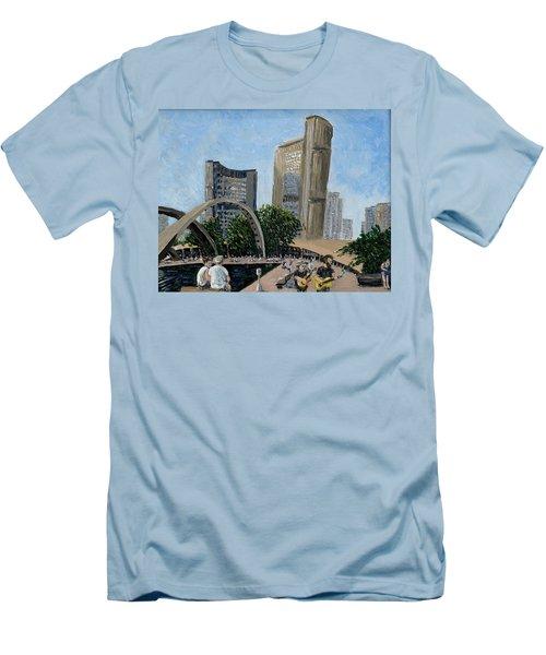 Toronto City Hall Men's T-Shirt (Slim Fit) by Ian  MacDonald