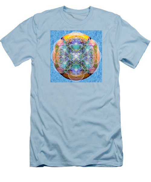 Men's T-Shirt (Slim Fit) featuring the digital art Torusphere Synthesis Cell Firing Soulin IIi by Christopher Pringer