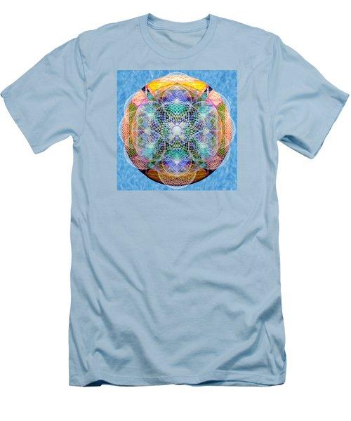 Torusphere Synthesis Cell Firing Soulin IIi Men's T-Shirt (Slim Fit) by Christopher Pringer