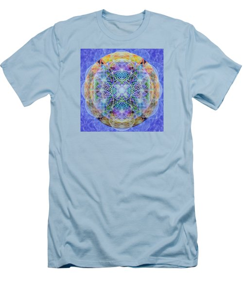 Men's T-Shirt (Slim Fit) featuring the digital art Torusphere Synthesis Interdimensioning Soulin Iv by Christopher Pringer