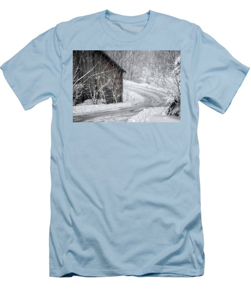 Touched By Snow Men's T-Shirt (Slim Fit) by Joan Carroll