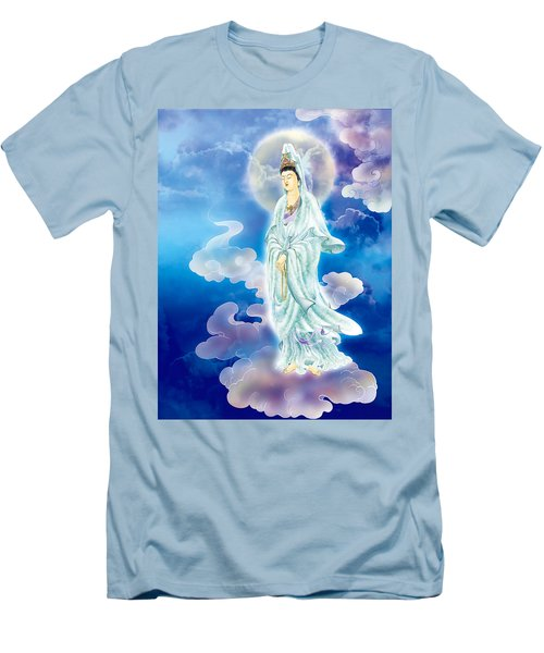Men's T-Shirt (Slim Fit) featuring the photograph Tranquility Enabling Kuan Yin by Lanjee Chee