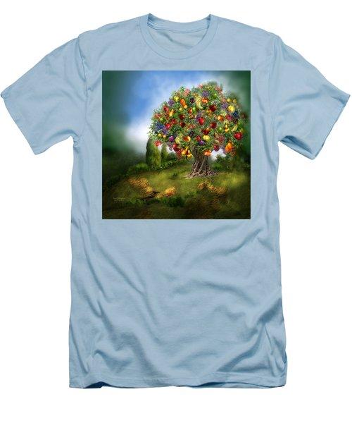 Tree Of Abundance Men's T-Shirt (Slim Fit) by Carol Cavalaris