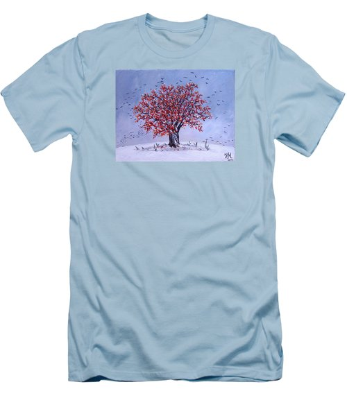 Men's T-Shirt (Slim Fit) featuring the painting Tree Of Life by Nina Mitkova